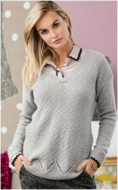 GRAY WOMENS SUITABLE SWEATER