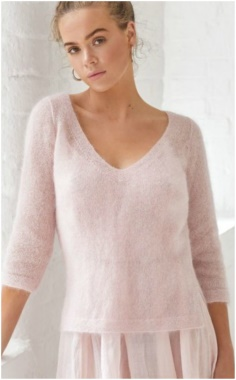 PINK LIGHT THIN EASY SWEATER