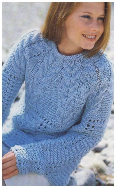 PULLOVER WITH A BRAID FROM BRAIDS