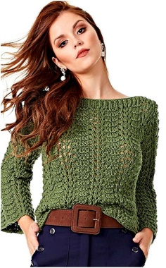 PULLOVER WAVY KNITTING PATTERN
