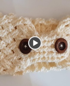 Hair band knitting video