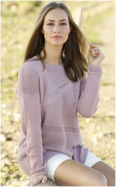 PINK PULLOVER KNITTING