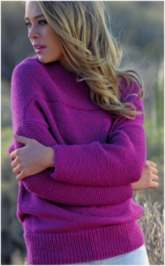 KNIT SHOULDER PULLOVER SWEATER