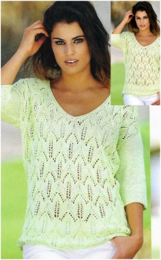 SUMMER PULLOVER WITH A PATTERN