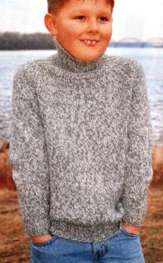 GRAY RAGLAN SWEATER