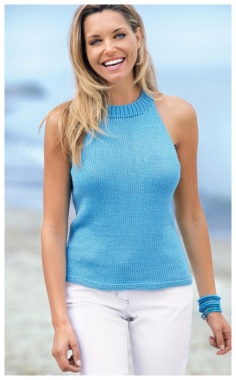 TURQUOISE AMERICAN ARMHOLE TOP