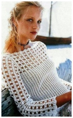 CROCHET WHITE JUMPER