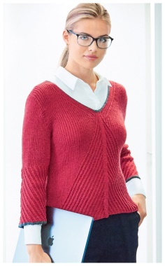 STRICT AND STYLISH CROPPED RED PULLOVER