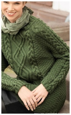 GREEN PATTERN SWEATER