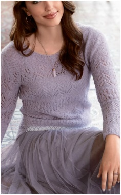 CHARMING LACE OPENWORK SWEATER