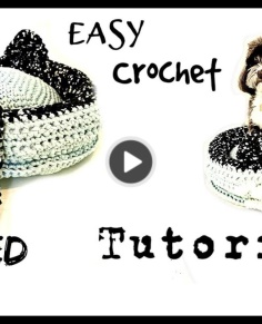 Easy Crochet Pet Bed Tutorial
