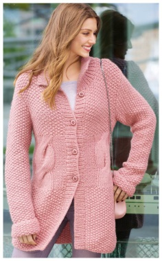 PINK EXTENDED BUTTON DOWN CARDIGAN