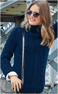 CHIC NAVY SWEATER KNITTING