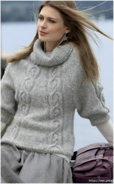 WARM PALE GRAY SWEATER