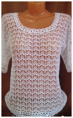 Summer Blouse Crocheted