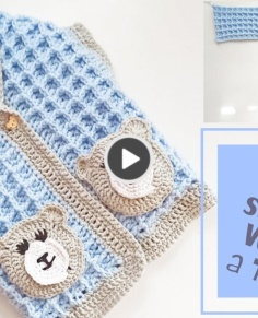 Super Easy Waffle Stitch Baby Vest