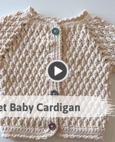 Easy Alpine Stitch Baby Cardigan