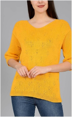 YELLOW PULLOVER PATTERN