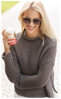 DIMENSIONLESS SWEATER WITH A STAND UP COLLAR