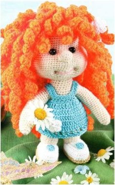 RED HAIR KNITTED BABY