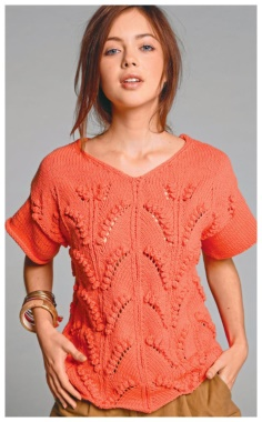PULLOVER WITH VEGETABLE SPOKE PATTERN