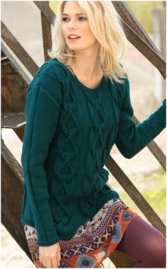 JUMPER WITH LARGE BRAIDS PATTERN